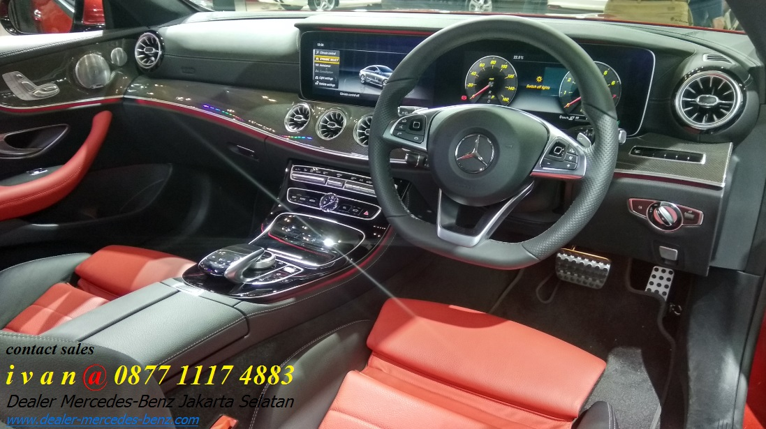 Interior mercedes benz e300 amg coupe 2017 indonesia red for Mercedes benz c300 red interior