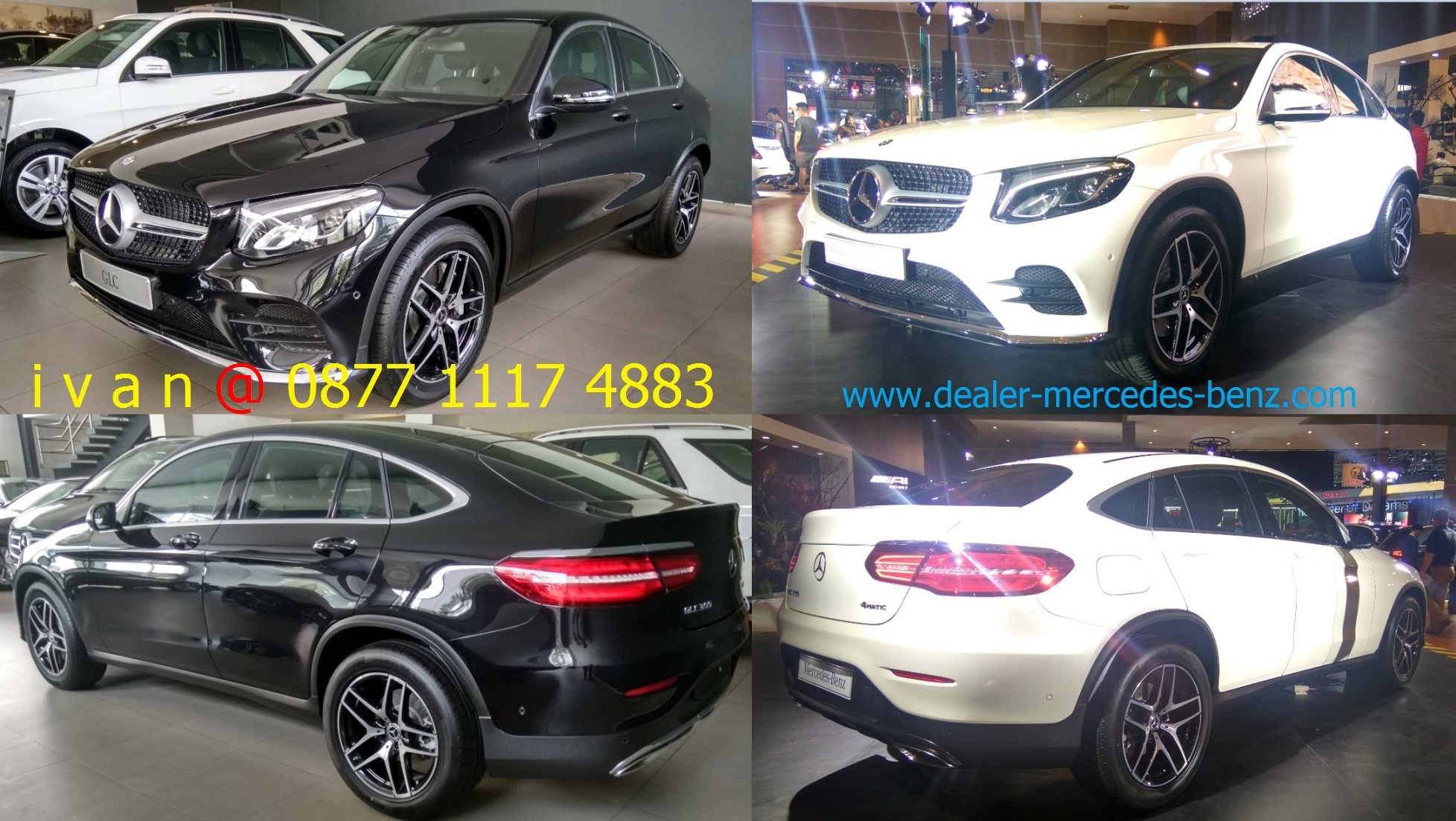 Mercedes benz glc 300 coupe amg line indonesia 2017 black for Mercedes benz glc 300 coupe