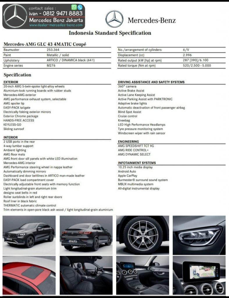 Spesifikasi Mercedes Benz GLC 300 Coupe Amg FL Facelift 2020 Indonesia