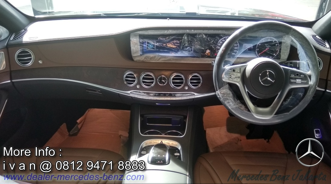Interior Mercedes Benz S450 L 2018 Brown