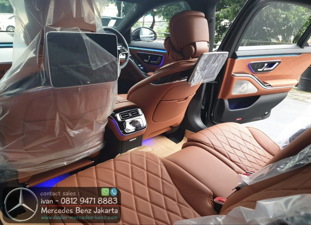 Interior New S-Class W223 Indonesia 2021 Brown