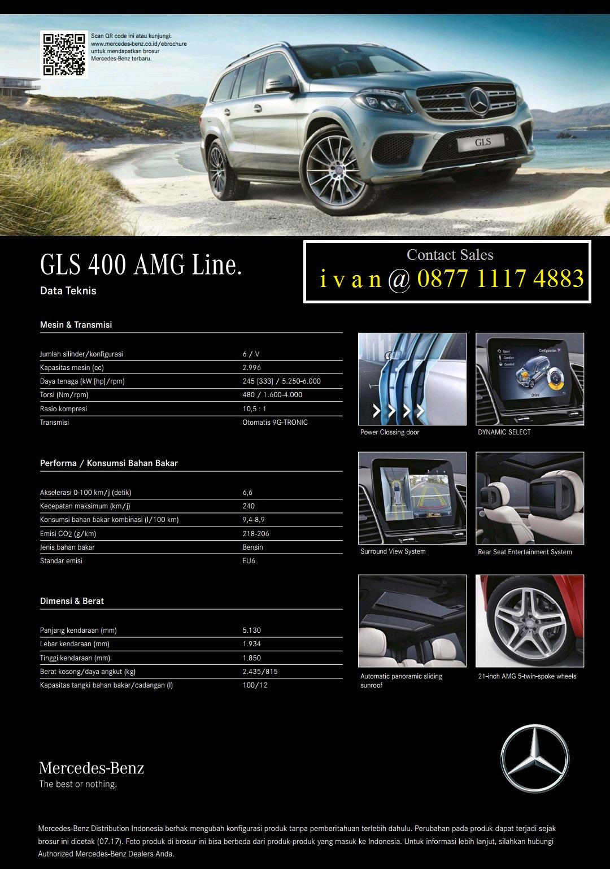 Brosur dan Spesifikasi GLS 400 AMG Line 2017 Indonesia