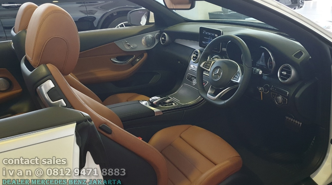 Interior Mercedes C-Class Cabriolet 2018 Indonesia