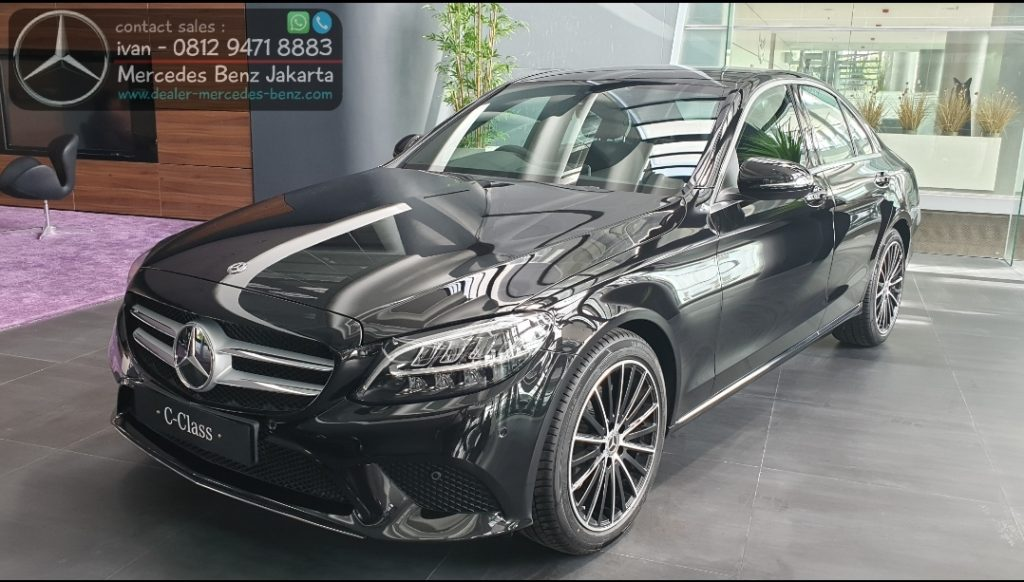 New Mercedes Benz C200 Avantgarde Line Facelift 2020 Indonesia Black