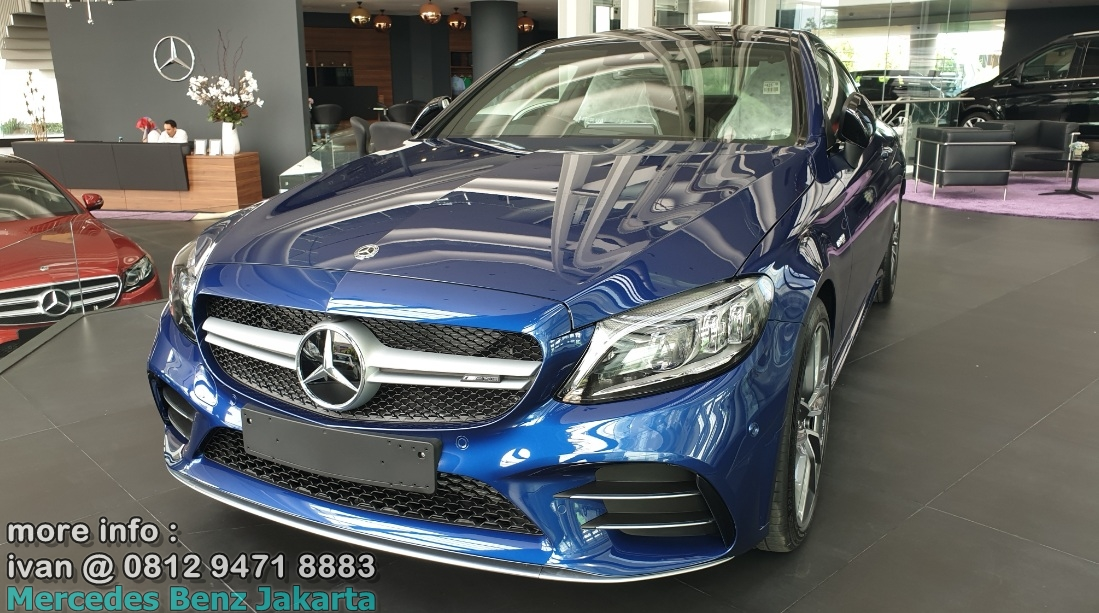 Mercedes-Amg C43 Coupe Facelift 2019 Indonesia blue