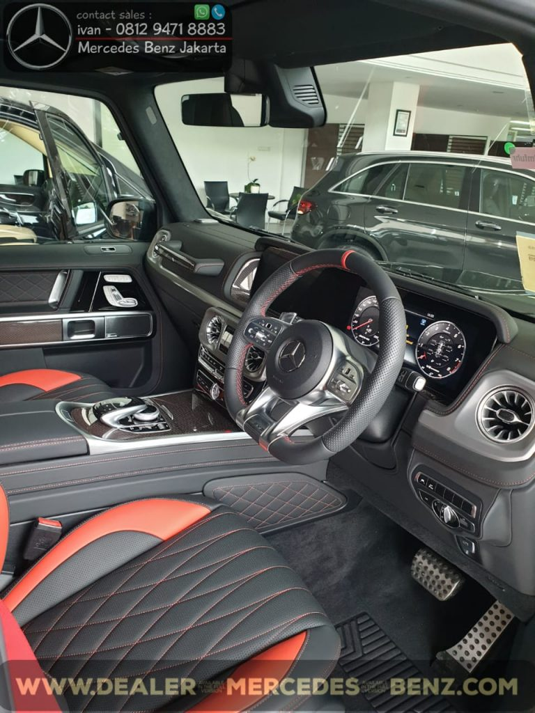 Interior Mercedes-Amg G-Class G63 Edition 1 Indonesia 2020 Red
