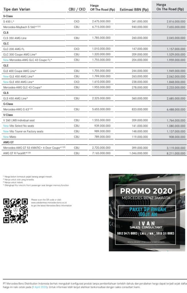 Pricelist Mercedes Benz Jakarta-Indonesia 2020 page 1