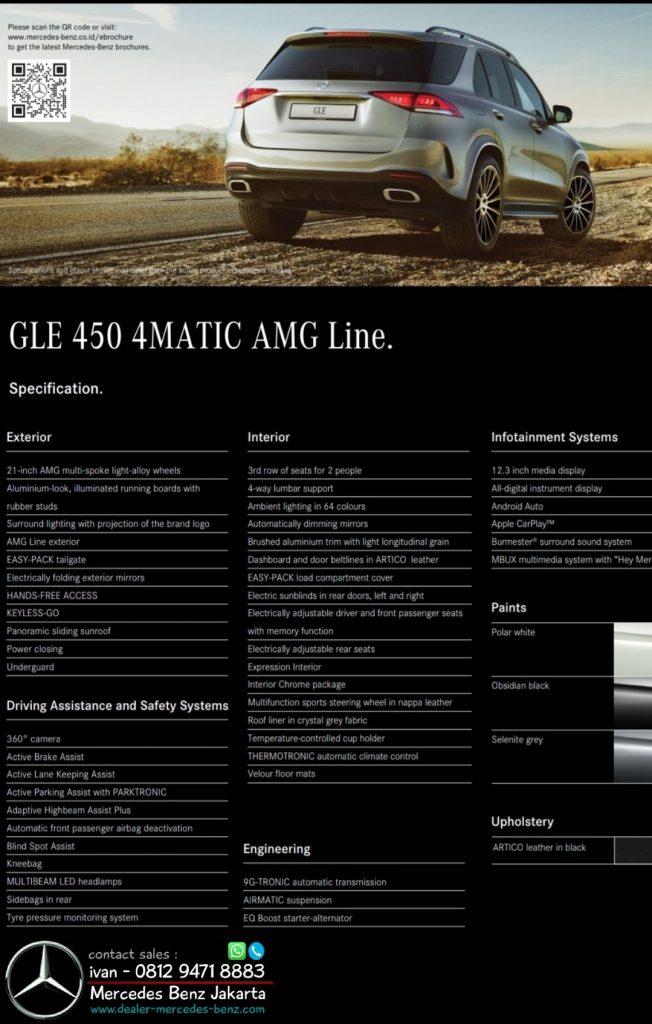Spesifikasi Mercedes Benz GLE 450 Amg 4MATIC Indonesia 2020